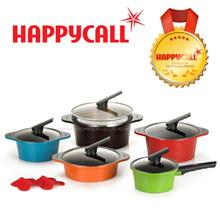 Happy call Alumite Ceramic 5-Pot set / cooking frying pan pots wok