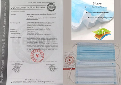 3PLY Adult Face Mask(20pcs)(CE Certified)