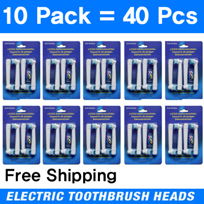 ☆10Pack 40pcs☆ Oral-B  Electric Tooth brush Heads Replacement for 129a320b95a1