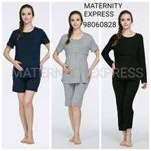 ♥2019 CNY SALE♥MATERNITY EXPRESS♥maternity dress confinement  nursing  pyjamas pajamas sleeping wear