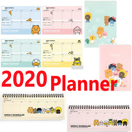 [KaKao Friends] New 2020 Weekly Planner/Weekly Pad/Monthly Planner/Made in Korea