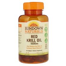 Sundown Naturals, Red Krill Oil, 1000 mg, 60 Softgels