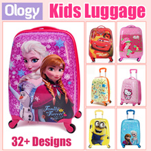 42 Designs Cartoon Cute Suitcase Luggage Frozen Spiderman Minion Baymax Strawberry Girl Dora