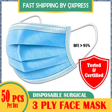 READY STOCK !!! 3 Ply Surgical Face Mask [ Earloop l 50pcs/box ]