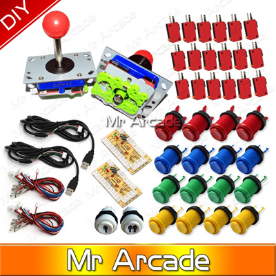 2016 NEW Arcade Game DIY Parts for Mame USB Encoder 8 Way Classic Arcade  Push Button Classic Arcade
