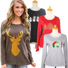 Cutie Tshirt Long Sleeves/ Kaos wanita/ Kaos natal/ Merry Christmast/ Baju obral
