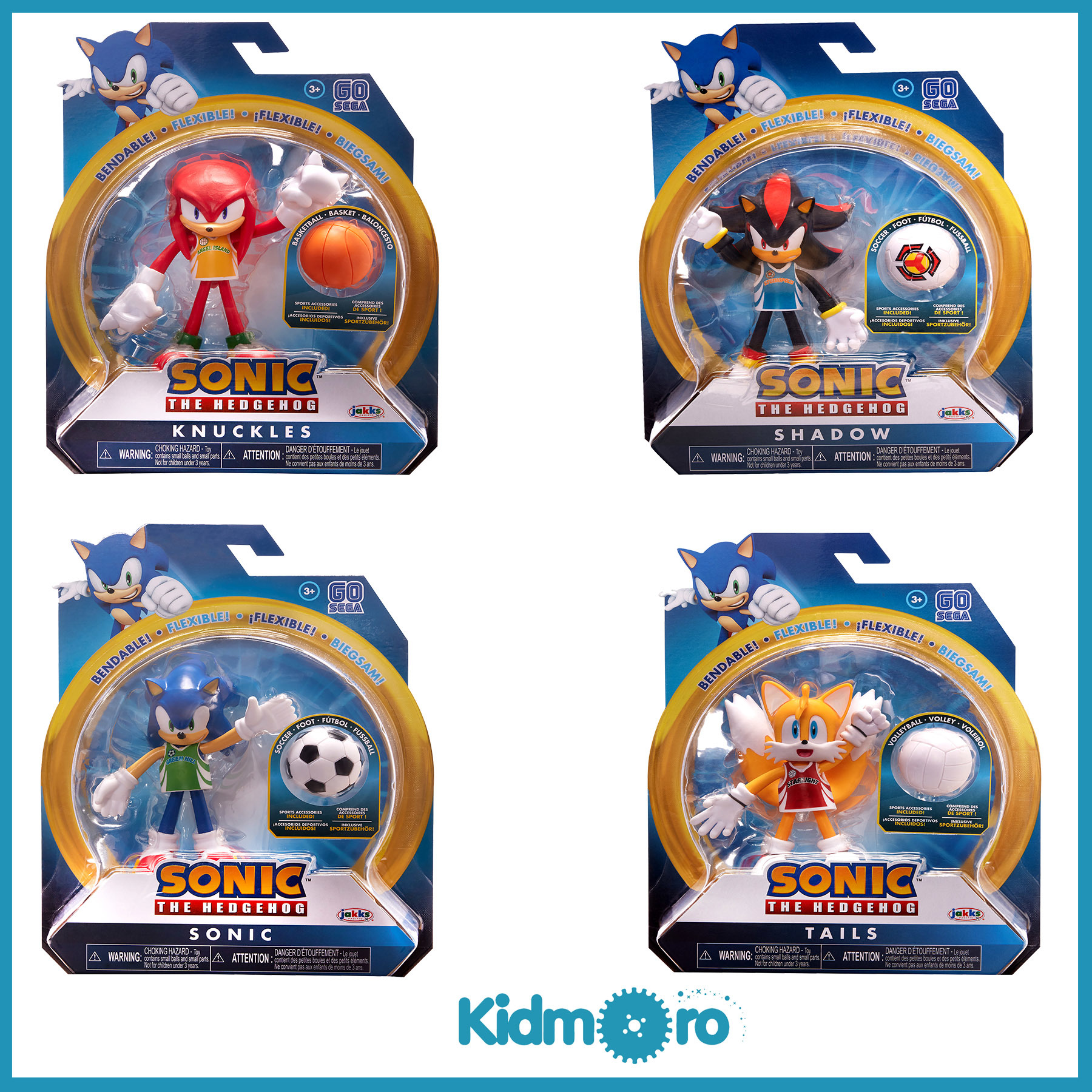 Qoo10 Sega Sonic The Hedgehog 4 Inch Bendable Action Figures Toys