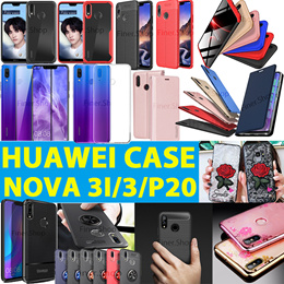 Huawei Nova 3i 3 3e P20 P20 Pro Mate 10 Honor Play Tempered Glass Screen Protector Flip cover case
