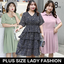 2019 new arrival /plus size/ lady fashion top/ dress/pants/look thin/plus size collection