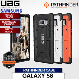 UAG Samsung Galaxy S8 Pathfinder Case / Black/Black / Rust/Black (Orange) / White/Black