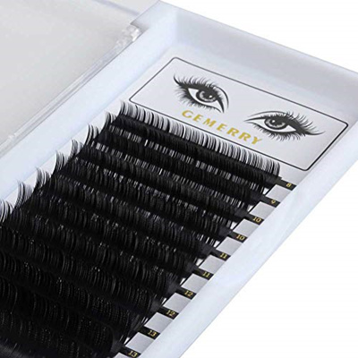 GEMERRY GEMERRY 0 07mm D Curl Eye-lash Extensions, 3D Silk Faux Mink  Individual Lash Extensions 8-14