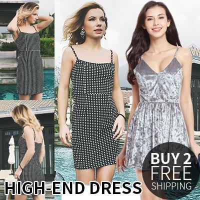 High end custom suspender skirt、 Sexy dress、 Comfortable、 Breathable、Foreign trade original.