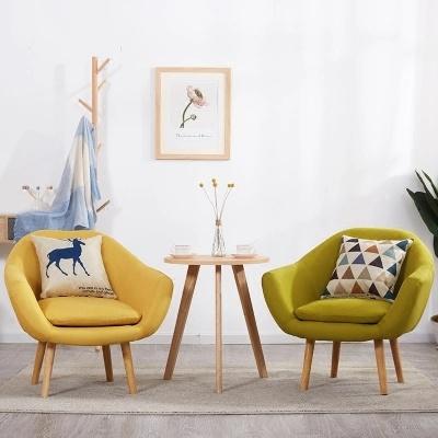 Nordic Single Sofa Lazy Bedroom Balcony Living Room Small Apartment Mini Creative Fabric
