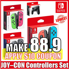 [Nintendo Switch] RE-STOCK  JOY-CON Controllers Set / Grey / Neon Red/Blue / Neon Green/Pink
