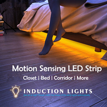 Motion Sensor LED Strip / Closet Bed Corridor Light / 1 - 2 meters / Cool White / Warm Yellow