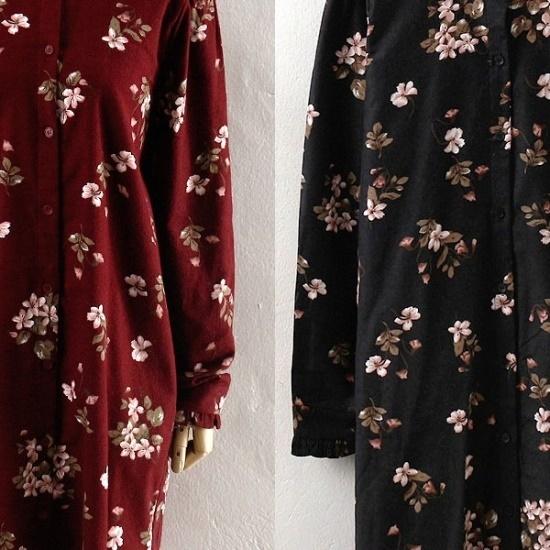 ウィスィモールIW、イッツフラワーワンピースLY1710 プリントのワンピース/ 韓国ファッション