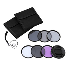 Andoer 67mm UV+CPL+FLD+ND(ND2 ND4 ND8) Photography Filter Kit Set Ultraviolet Circular-Polarizing Fl