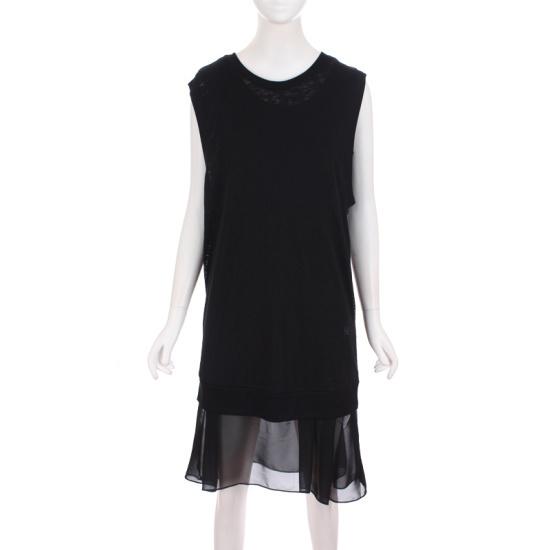 甲斐アクマン女性バーンアウトティーシャツシフォン袖なしのワンピースKMBOP432W0 面ワンピース/ 韓国ファッション