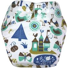 Clodi Popok Kain Bayi Babyland Snap Microfiber Castle   cloth diaper   Best seller