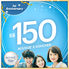 ACUVUE® $150 OASYS 2-Week Lens at $130 ★GWP $10 Voucher+4x60ml RevitaLens Solution