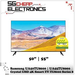 Samsung Crystal UHD 4K Smart TV TU8000 Series 8 (UA50TU8000KXXS | UA55TU8000KXXS) - 3 Years Warranty