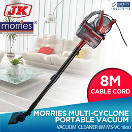 MORRIES MULTI-CYCLONE PORTABLE VACCUM CLEANER 8M MS-VC1800