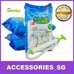 Wenbo High Quality Vacuum Storage Bag (Set of 8 + 1 Air Pump ) Travel Hand Roll Bag Air Tight