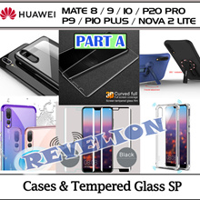 [PART A]★SG★Huawei Mate 10 P20 Pro Nova 2 Lite P10 P9 Plus Case Tempered Glass Screen Protector