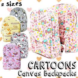 Cartoons Canvas Backpack   Travel Backpack   cartoon school Bag  Hello Kitty  My Melody Rilakkuma 3e160f59160ba