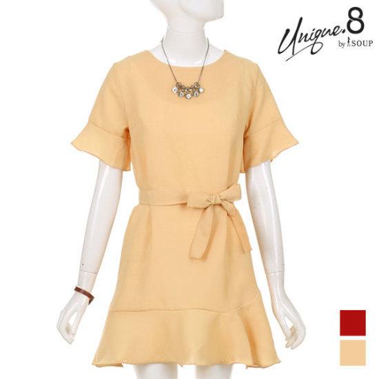 森SOUPフリルストラップロングワンピースSTGOP30 面ワンピース/ 韓国ファッション