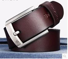 Entire new mens leather belt leather belt men belt authentic Korean tidal