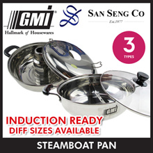 ★GMI★Induction Ready! Single/Double/YuanYang/ThaiShabu Steamboat Pot★26cm-32cm available.