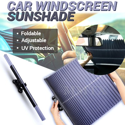 250dff017b0 Anti-UV Car Window Sunshade Retractable Foldable Windshield Sunshade Cover  Shield Curtain Auto