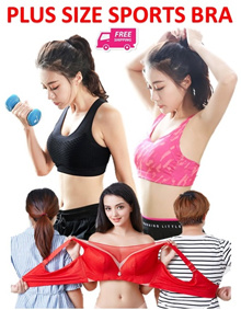 ♥PLUS SIZE PREMIUM SPORTS BRA♥BRA♥UPTO 105E SIZE♥TOP♥TUBE♥FAST DELIVERY