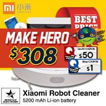 Xiaomi Mi Robot Vacuum Cleaner ★ READY STOCKS★ 5200 mAh Li-ion battery ★ 2.5 hours of charging ★