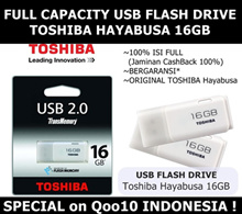 [100% ASLI] 16GB TOSHIBA HAYABUSA USB FLASH DRIVE - Garansi 1 Bulan Full Replacement !!!