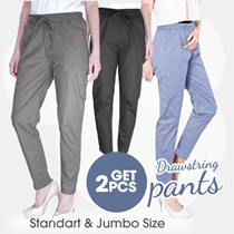 [BUY 1 GET 1] BEST SELLER Casual Pants Stretch 14 COLOR Good Quality / Women's Long Pants