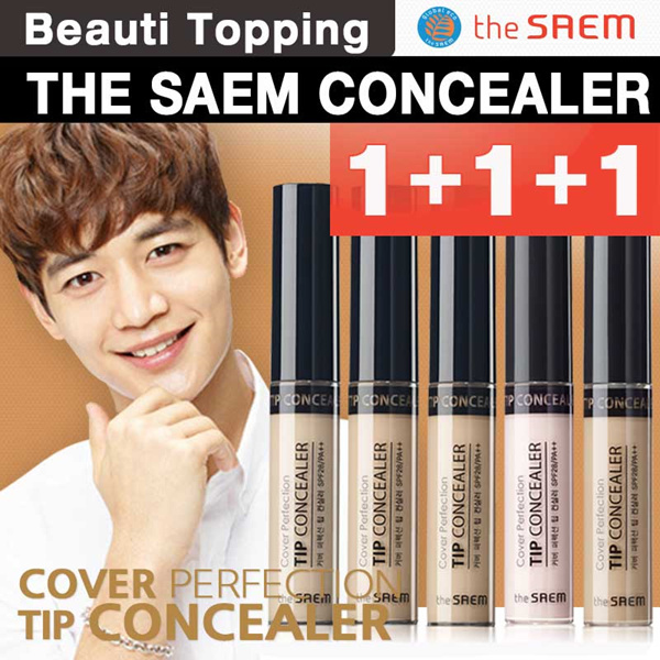CRAZY PRICE?1+1+1?THE SAEM?Cover Perfection Tip Concealer(5color)[Beauti Topping] Deals for only Rp109.600 instead of Rp199.273