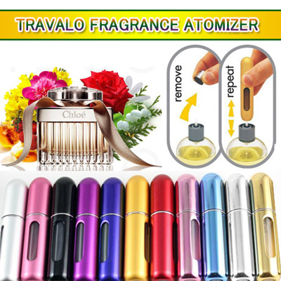 [TRAVALO]Fragrance atomizer refill spray bottle / travalo travel bottle / essential accessory / refillable durable aircraft-approved / perfume pump design / 10 colors simple design