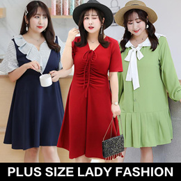 【PLUS SIZE】high quality! / women fashion lovely dress / tops / lady  fashion / Look thin /profession