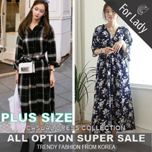 ♥Free Gift♥19th Oct Update ♥Korean Style♥ Linen / Casual / LOOSE Fit / Dress / Plus Size