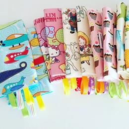 100% Handmade Reversible Baby Carrier Teething Pads/drool pads  taggies Tula Ergo Manduca Boba