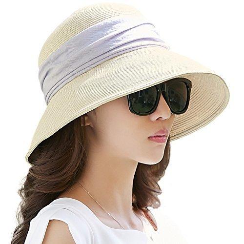 fit to viewer. prev next. Siggi Womens Foldable Straw Cloche Panama Floppy  Summer Beach Sun Hat Wide Brim Beige e46cd044d5e0