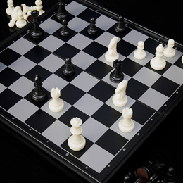 THY COLLECTIBLES Magnetic Portable Holding Travel Chess Set Classic Black /& W...
