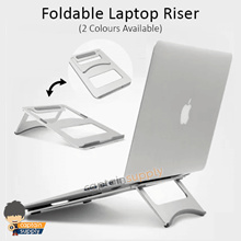 ★ Foldable Laptop Riser Stand ★ Tablet Notebook Monitor Office Ergonomic Light Portable Cooling