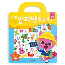 Pinkfong Alphabet Stickers Official Baby Shark Family English Study Baby Kids Sticker Book Early Learning