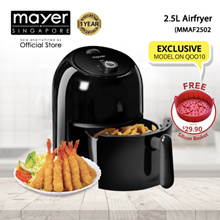 *Qoo10 Exclusive* Mayer 2.5L Airfryer (MMAF2502) 1 Year Warranty - With FREE Silicon Basket