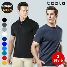 Tesla Mens T-shirts / Polo shirts / Top / Dynamic Cotton / Ventilation and Breathability /