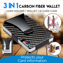 New Design Minimalist Wallet Card Case RFID Blocking For Men Carbon Fiber Wallet Stretched Credit