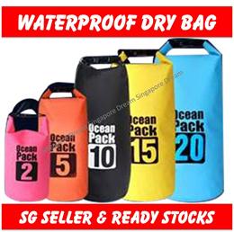Waterproof Tube Dry Sling / Backpack Sports Bag For Hiking / Swimming / Beach / Fishing